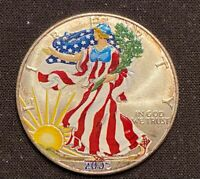 """2021 Silver Eagle Colorized /"""" Wonder Women /"""" Limited to 25 all new awesome"""