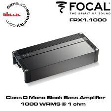 Focal FPX 1.1000 - Mono Class D Amplifier High Power Amp New Stable 1000W @ 1Ohm
