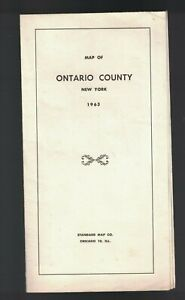 Map of Ontario County New York 1963 Standard Map Co