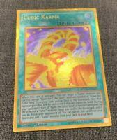 YuGiOh - Cubic Karma - MVP1-ENG41 - Gold Rare - 1st Edition - NM+