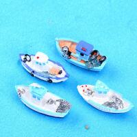 1x Miniature Mini Boat Model Fishing Ship Toy DIY Craft Tabletop Decor 2x3x5cm