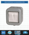 BG ELECTRICAL WEATHERPROOF WPB42 IP55 10 Amp 2 GANG 2-WAY SWITCH Outdoor Garden