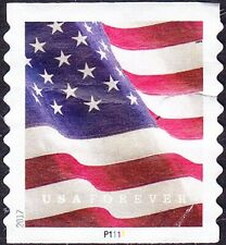 US - 2017 - USA Forever Flag Stamp Coil Issue # 5159 Plate #P1111 Single F-VF