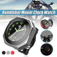 "CNC 7/8"" 1"" Moto Bicyclette Support Guidon L'horloge Regarder Cadran Imperméable"