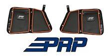 PRP Seats Door Bags - Rear Both Sides Black / Orange for 14-17 Polaris RZR 1000