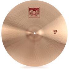 "Paiste 2002 Crash Cymbal Medium Sustain Bright Warm Full Wide Range Clean 20"""