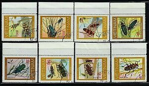 VIETNAM 1977 BEETLES Series Insects Fauna Animals /Mi:VN 876-883/ SET 8 STAMPS