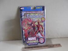 "Marvel Legends Series II  Human Torch 6""in Figure w/Comic ToyBiz 2002"