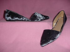 """Blue Crushed Velour Open Side Pointed Toe Flat """"Poppy"""" by A New Day 11M"""