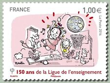 France 2016 150 years League Education  Liga Bildung Sociedad  Educación 1v mnh