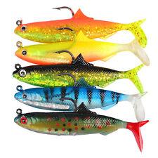 5pcs Soft Fishing Lures Soft Bait Hooks lead plating fishing Tackle 10.5cm 21g