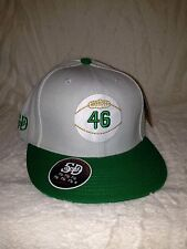 Stall & Dean Rucker #46 Fitted Hat (7 3/8) (White)