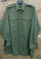 GENUINE BRITISH ARMY ISSUE GENERAL SERVICE OLIVE GREEN LONG SLEEVE SHIRTS