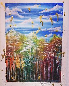 Medium painting on canvas hand painted