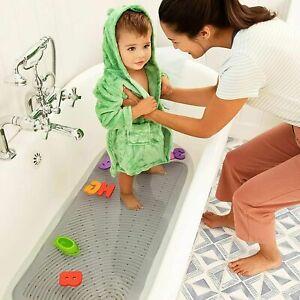 """Munchkin Soft Spot Cushioned Bath Mat, Grey 36"""" x17"""""""