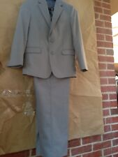 NAUTICA Grey Pinstriped Youth Sz 12 Regular Suit Jacket and Pants