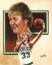 LARRY BIRD 8x10 ART PHOTO Vintage NBA Artwork Picture BOSTON CELTICS #33 legend