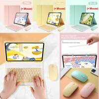 For Apple iPad Models Removable Keyboard W/ Bluetooth Mouse Case Cover Protector