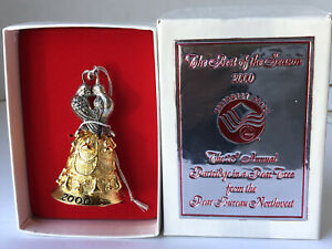 Partridge in a Pear Tree 2000 Cast Metal Bell Love Birds Pear Bureau Northwest