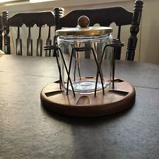 Vintage Demuth  Humidor Tobbacco Jar & 6 Place Pipe Stand