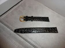 Vintage Genuine Piaget Swiss Made Watch Band Genuine Leather 17mm Black