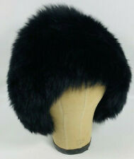 Vintage Alexander'S Exclusive Fur Hat, Dyed Tuscan Lamb, Made in Italy, Black