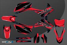 KIT ADESIVI GRAFICHE RACE ONE RED HONDA CRF 250 2014 2015 2016 2017