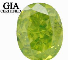 GIA CERTIFIED Natural Loose Diamond Green Color Oval SI1 0.77 Ct L4056 BKK