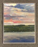 """Across Keuka Lake"" Original Oil Painting Finger Lakes by Ron Johnson"