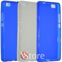 Cubierta De La Caja Para Huawei P8 Lite in Silicone Gel TPU Retro Mate