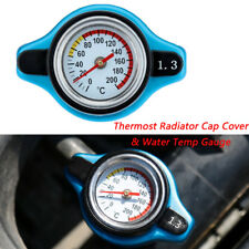 Blue Surface Car SUV 1.3 Bar Thermost Radiator Cap Cover Water Temp Gauge Meter