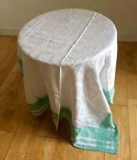 Vintage 1950s Tablecloth Damask Irish Linen Shop Stock Retro Tea Picnic VW