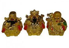 Golden Feng Shui Three Deitie Fuk Luk Sau Statue