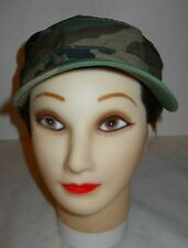 "HOT WEATHER CAP, GI WOODLAND 50/50 NYCO RIPSTOP, SZ. 7 3/8(22"") OLD STOCK!"