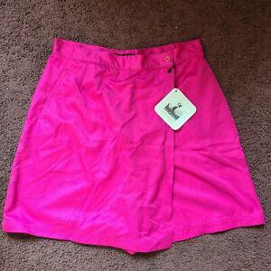 NWT Vintage Dead Stock Top Flite Spalding Tennis Golf Skort Womens Sz 16 Pink #2