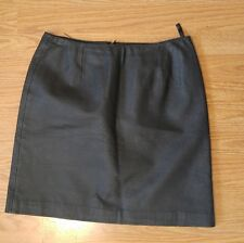 Boutique Europa 100% leather skirt black mini size 10 sexy above knee
