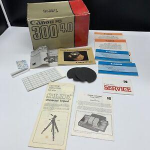 Canon FD Vintage Lot of Canon & Misc. Instruction Booklets & Canon FD Lens Box