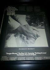 U.K. Danger Money Nothing To Lose Rare Promo Poster Ad Framed!