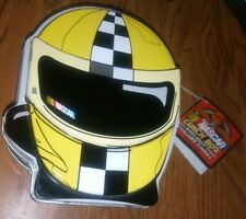 RARE Official NASCAR Racing Kids MINI Checkered Helmet Metal Tin SMALL Lunch Box