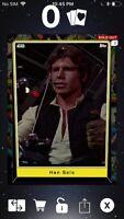 Topps Star Wars Digital Card Trader Heritage Han Solo S5 Base Variant Insert