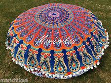 Mandala Round Floor Cushion Cover Boho Beach Roundie Mandala Tapestry 82 Cm's