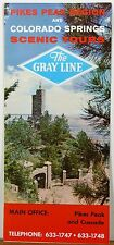 1966 Colorado Springs Pike's Peak Gray Line brochure Shrine of the Sun cover b