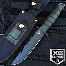 "10.5"" SAWBACK Fixed Blade GUT HOOK Tactical Hunting Survival Knife Bowie"