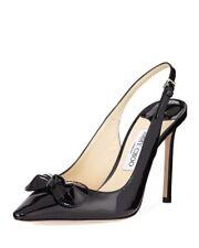 Jimmy Choo 'Blare' 100 Black Patent Sling Back Heels Stiletto Size Uk 6 Eu 39