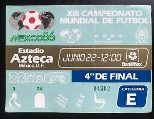 FIFA World Cup Mexico 1986 Ticket Quarter Finals 22 June 1986 Argentina England
