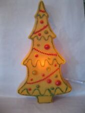 Blow Mold Christmas  Gingerbread Tree Tan Lighted Display Decoration Union