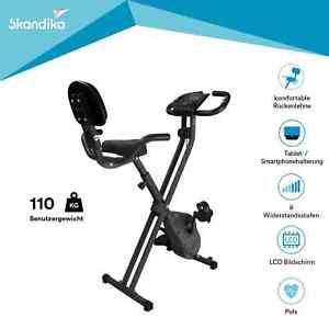Skandika Foldaway X-1200 Bicicleta estática plegable 8 niveles resistencia nueva