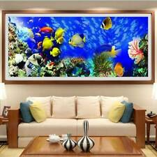 5D Large Full Drill Diamond Painting Ocean World Scenery Cross Stitch Craft Home