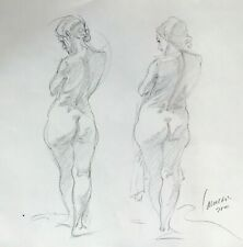 Harry Carmean drawing of female model 2 poses 2000