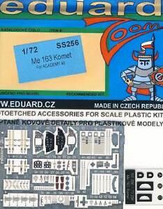 Eduard Me 163 Comet Interior & Seat Belts Etched Parts 1:72 Messerschmitt New